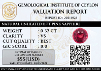 Natural Unheated Pink Sapphire 0.37 CT CSL-1F7A9C1AA106